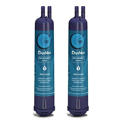 Tetovit EDR3RXD1 4396841 Water Filter Cap Compatible with 4396841, 4396710, Filter 3, P2RFWG2, Kenmore 9083 Kenmore 9030 Water Filter Purple - 2-Pcs