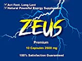 Zeus Special Edition, Fast Acting Amplifier for Strength, Performance, Energy, and Endurance, Extra Strength 10 Capsules