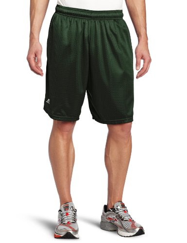 Russell Athletic Men's Mesh Short with Pockets, Dark Green, Large
