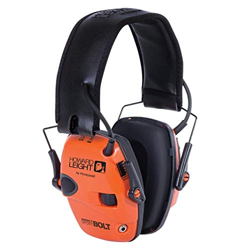 Howard Leight Impact Sport Bolt Digital Electronic Shooting Earmuff, Orange