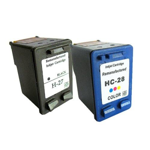 Druckerpatronen Refill ersetzen HP 27 und HP 28, je 1 Stück im Set