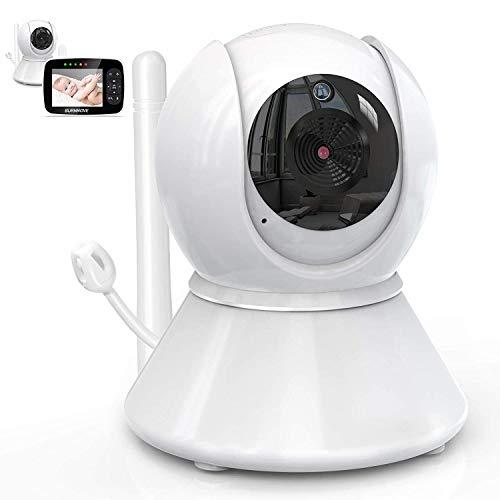 Wythe Vigilabebés con cámara interior para bebés, visión nocturna, detección de sonido y movimiento con audio bidireccional para niños y mascotas