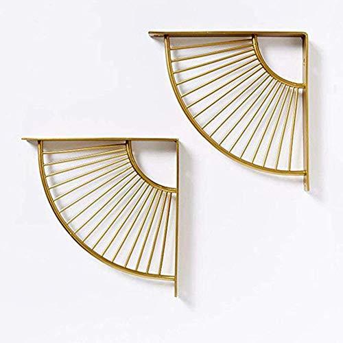 ZaiHuiShou drijvende plank goud multifunctionele muursteun - DIY plank driehoek ontwerp moderne nostalgische stijl, 15 cm—30 cm