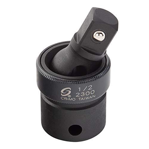 "Sunex 2300, 1/2"" Drive, Universal Impact Joint, Cr-Mo Steel, Radius Corner Design, Flexible, Meets ANSI Standards"