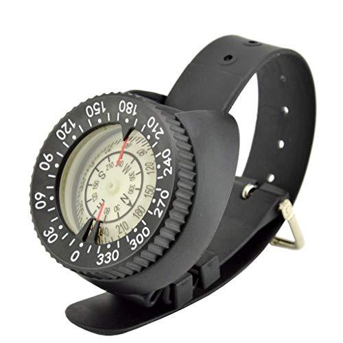 Style wei Tecnología de Buceo Brújula Brújula Brújula subacuática Líquido de Relleno Magnético 50 Metros Impermeable Reloj Brújula Luminoso (Color : A)