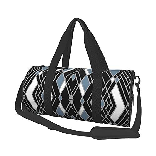 Borsa sportiva da palestra, stile Art Deco Zoom blu super leggero, borsa da viaggio, borsa da viaggio per palestra, sport, viaggi, nuoto