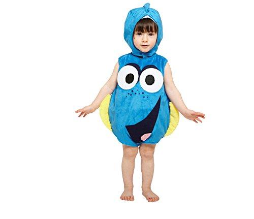 amscan–Disfraz para niños Dory Colcha de Peluche con Gorro, 68-80 cm