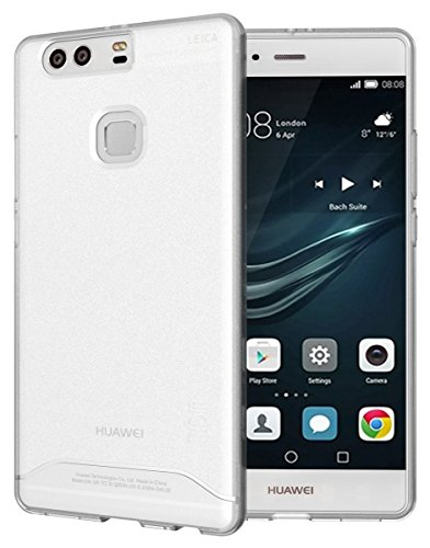 Huawei P9 Plus Case, TUDIA Full-Matte Arch TPU Bumper Protective Case for Huawei P9 Plus (Frosted Clear)