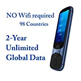 Language Translator Device with Unlimited 2-Year Global Data, No Wifi Need, Jarvisen Instant Real Time Two Way Voice 60 Languages and Selected Offline Translation, Support Bluetooth Earphone (Blue)