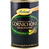 Roland Foods Premium Quality Small Cornichons, Specialty Imported Food, 4.1-Liter Can