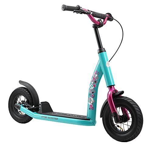 STAR SCOOTER Patinete Infantil 2 Ruedas a Partir de 5 años | Kick Scooter 10' neumáticos, Ajustable en Altura para niñas y niños | Verde