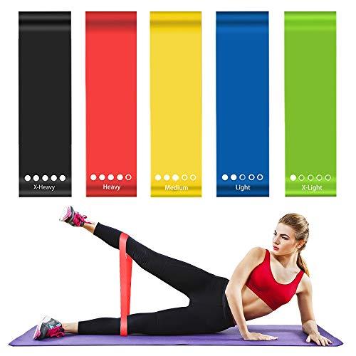 ZOMAKE Fitness-Bänder, Latex-Widerstandsschleifenbänder für Physiotherapie, Reha, Stretching, Heimfitness, Krafttraining, Trainingsbänder für Frauen mit Tragetasche