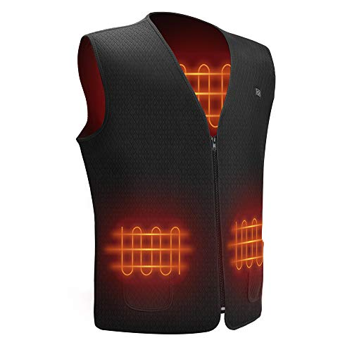 Funria Heated Vest for Men and Women Black Lightweight Heated Jacket with 5...