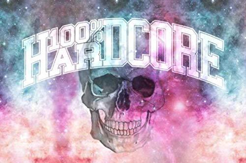 100% Hardcore Banner Dream, Gabber Flagge Techno Fahne Wanddeko