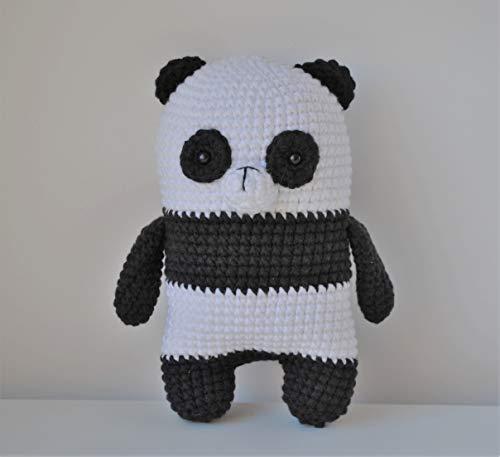 Panda peluche 18cm crocheté main Amigurumi Marshmallow Toys