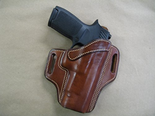 "Springfield XD Mod2, XDM, XD 5""- 5.25"" OWB Leather 2 Slot Molded Pancake Belt Holster CCW TAN RH"