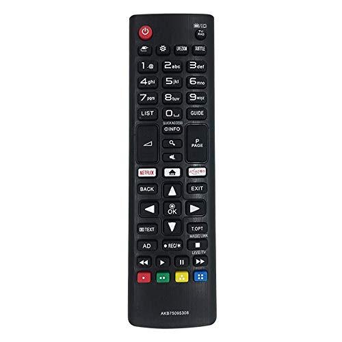 FireRune Nuevo Control Remoto Universal de Repuesto AKB75095308 AKB75095307 para LG TV / 3D Smart TV con el botón Amazon Netflix - No Requiere configuración Control Remoto Universal