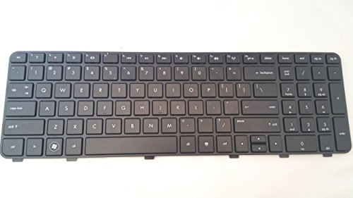 P&U New Black Matte keyboard with Frame for HP Pavilion DV6-6150US DV6-6152NR DV6-6153CL DV6-6157NR DV6-6158NR DV6-6159US DV6-6160US DV6-6161HE DV6-6163CL DV6-6167CL DV6-6169US DV6-6170US DV6-6173CL DV6-6180US DV6-6181NR DV6-6182NR DV6-6183NR DV6-6185NR DV6-6186NR DV6-6190US Laptop / Notebook US Layout