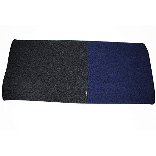 MUFFLON Walkdecke Blanket Merinowolle Nachtblau/Anthrazit 140 x 220 cm