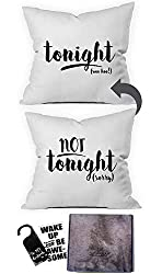 Oh, Susannah Tonight Not Tonight Reversible Throw Pillow Case Cover - Funny Bridal Shower Gifts