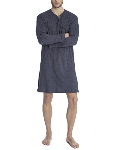 Calida Herren Glen Einteiliger Schlafanzug, Grau (Stormy Grey Print 794), Small