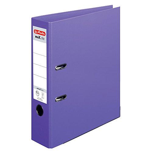 Herlitz 10834414 Ordner maX.file protect+ (A4, 8 cm) violett