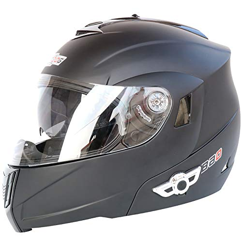 Story of life Motorhelm met bluetooth, Smart-dubbele lens helm, antwoord automatische multifunctionele bluetooth muziekslag-volvizierhelm