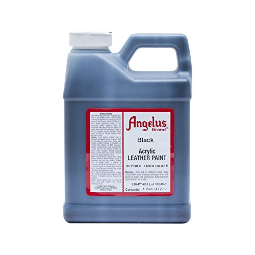 Angelus - Pintura acrílica para piel (472 ml), color negro