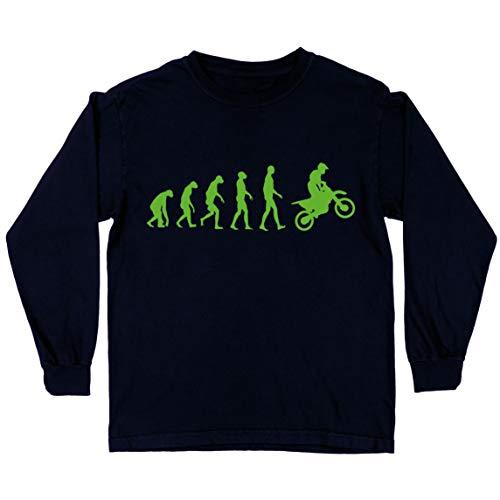lepni.me Camiseta para Niños Evolución del Motocross Equipo de Moto Ropa de Carreras Todoterreno (5-6 Years Negro Verde)