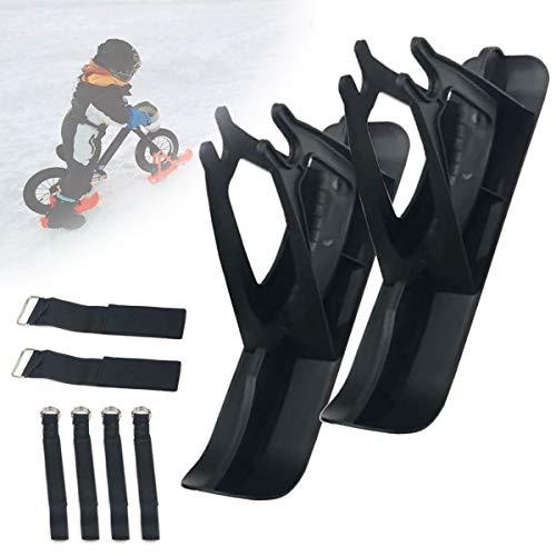 SCXLF Trineo de Esquís de Niños, Coche de Equilibrio Tablas de Esquí, 12in Invierno Equipo de Esquí, Piezas de Scooter Bicicleta, Andador de Esquí Sin Pedales para Niños y Pequeños