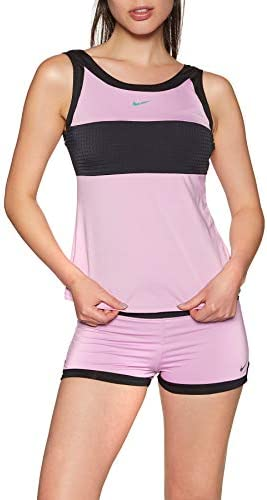 Nike Swim Sport - Camiseta de tankini de malla para Mujer Morado
