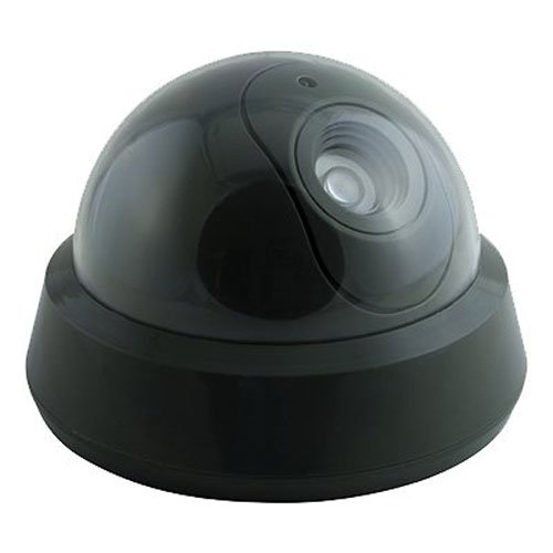 GE Personal Security Decoy Security Camera, Flashing Red LED, Battery Operated, Easy to Install, Indoor or Outdoor, Home Protection, 45277
