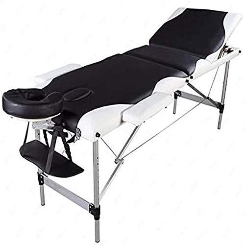 KEDUODUO Pliante de Massage, 70 Pouces Professionnel Table de Massage Pliante 2 Noir