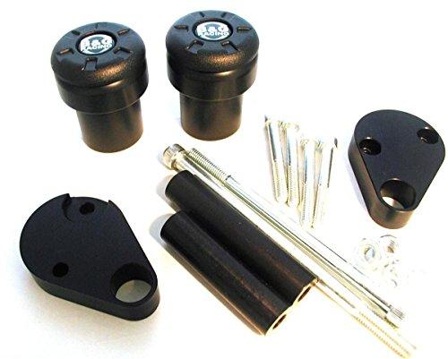 Color : Black HANLING CNC 22MM 7//8  Motorrad-Lenker Caps Lenkergriffe for Suzuki GSF 250 600S 600 650 650S 650N 1250 1200 Bandit 650S