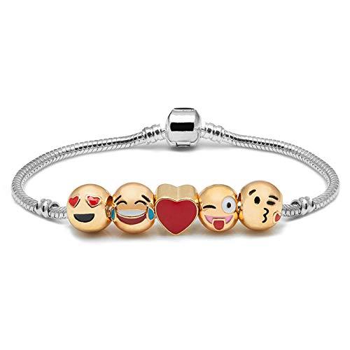 Shop-Story - Bracciale 5 emoticon, placcato oro