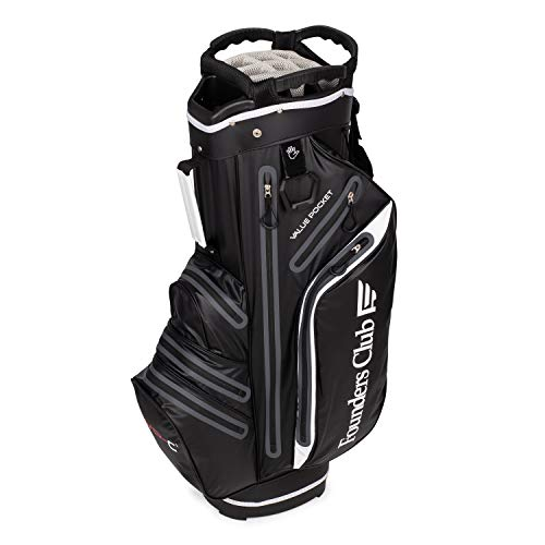 Founders Club Waterproof Golf Cart Bag Ultra Dry for Rainy Days on The Golf Course Light Weight 14 Way Full Length Divider Plus External Putter Tube (Black)