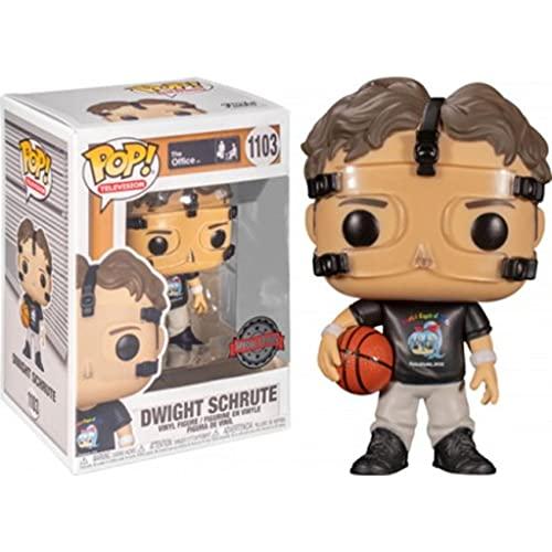Funko Pop! The Office Dwight Schrute Basketball #1103 Exclusivo con funda protectora de cáliz Collectibles Pop