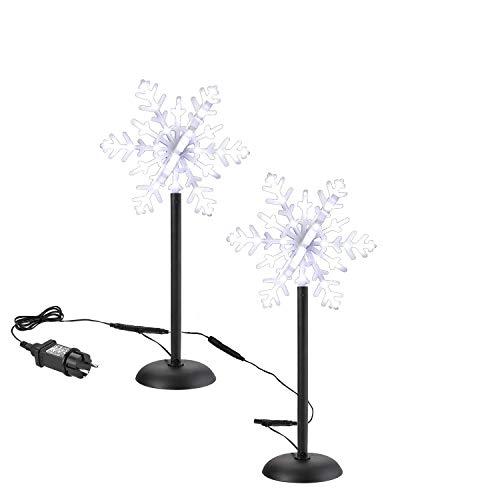 2 Pack Luci da Giardino Esterne LED Luci Fiocco di...