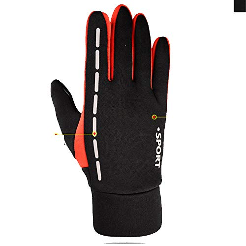 Cycling Gloves Men Women Touch Screen Gloves Running Gloves Lightweight Lining Gloves for Outdoor Sports Climbing Hunting Riding Anti-Slip Cycling Gloves for Men Women (Color : Red, Size : M)