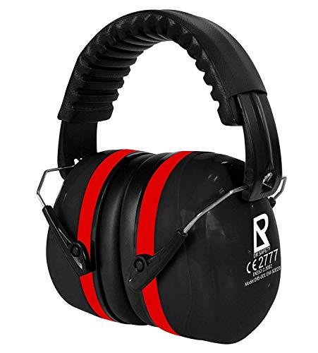 DR SAFETY Gehörschutz Schwarz I Individuell einstellbarer Ohrenschützer für Erwachsene & Kinder I...