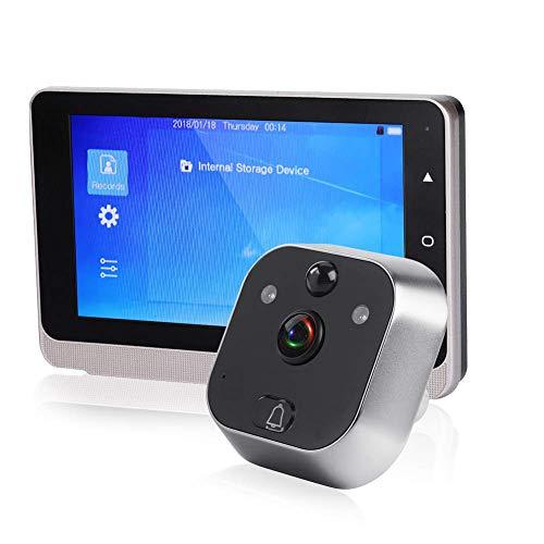 720P 5 Zoll OLED Bildschirm Video Türklingel mit Kamera Digitales elektronisches Katzenauge mit IR Nachtsicht/Bewegungserkennung/Automatische Fotoaufnahme / 160 ° Weitwinkelobjektiv