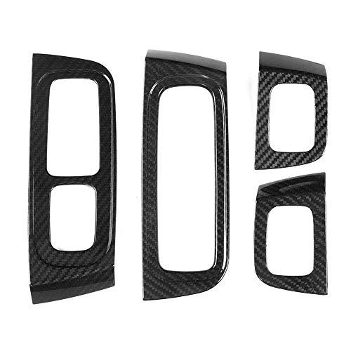 Window Lifter Panel Trim, 4 stuks Real Carbon Window Lifter Panel Trim Sticker Past voor Porsche Panamera 2017-2020