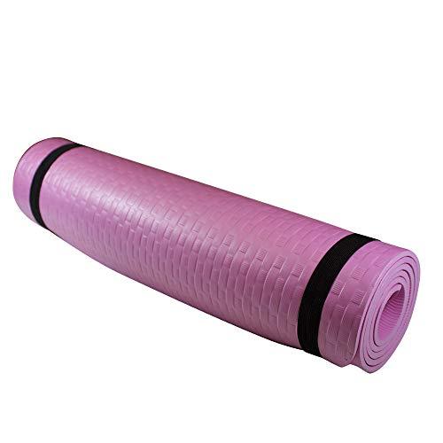 Azorex Esterilla Yoga Espeso Antideslizante Alfombrilla de Yoga Espesor 8/10 mm Esterilla Pilates Esterilla Deporte con Correa de Hombro (Verde, Espesor 8mm Ancho 61cm)