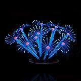 Fliyeong Silicón Luminoso Artificial Coral Plantas Ornamento Decoración para Acuario Tanque de Pescado 7cm Práctico y Popular