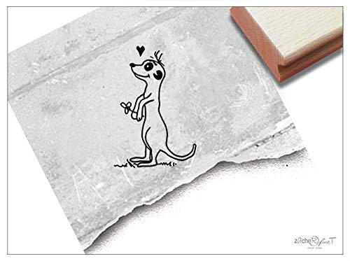 Stempel Tierstempel ERDMÄNNCHEN - Kinderstempel Lehrerstempel Geschenk für Kinder Kita Kinderzimmer Schule Einschulung Schultüte Deko - zAcheR-fineT