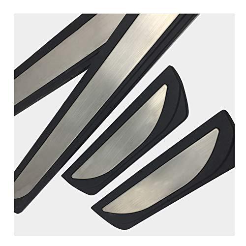 YEE PIN Qashqai Einstiegsleisten Set für Qashqai J11 SUV 2014-2019, Türschweller Pedal Schützen Leisten Schweller Schutz Aufkleber (4 stücke) (Without Logo)