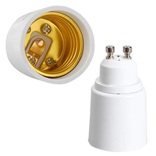 Mobestech 2 adaptadores de bombilla GU10 a E27/E26 de 2 pines de...