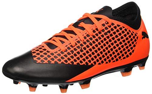 Puma Future 2.4 FG/AG, Zapatillas de Fútbol Hombre, Negro Black-Shocking Orange 02, 41 EU