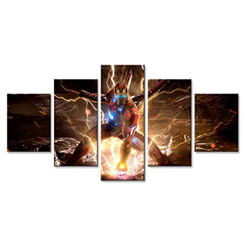 Avengers Endgame Iron Man Wall Art Modern Artwork Painting Print on Canvas Picture for Living Room Home Decoration Poster 45 (Unframed,8x12x2 8x18x2 8x22(inch))