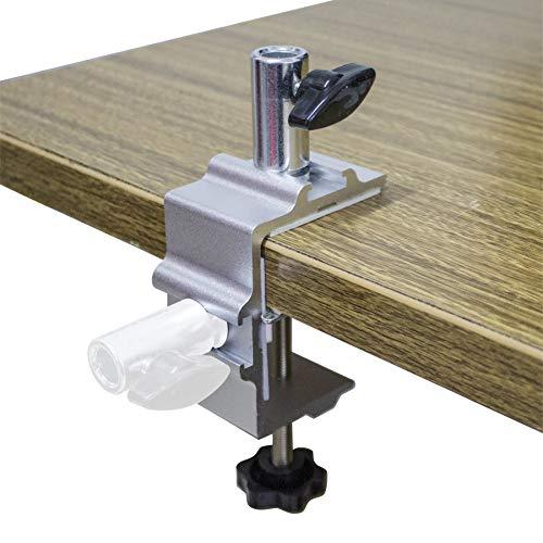 Metall-Tischhalterung, robust, zwei-Wege-Halterung, Tisch-Schraubzwinge für Mikrofon/Tablet, Scherenarm, Arbeitsleuchte, Tischlampe, Lupenlampe, Schwingarm-Lampe, i-Pad-Halterung, Tablet-Halterung